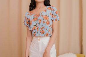 DESI Floral Puff Sleeve Blouse