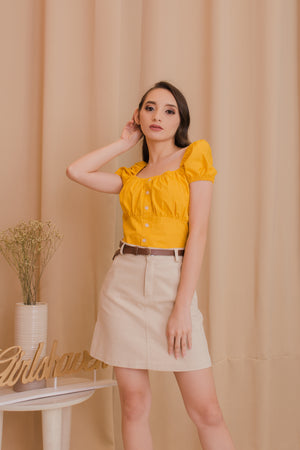 LEXI Puff Sleeve Blouse - Sunny Yellow