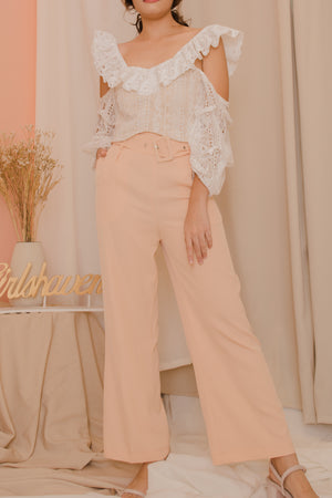 SHEIN Belted Pants - Wide Leg
