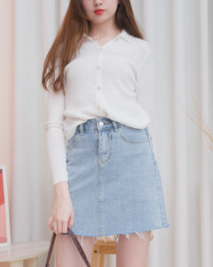 TAYLOR Denim Skirt - Light Wash