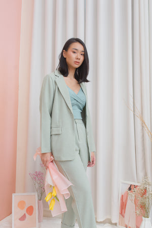 MITCHELL Set: Blazer & Pants - Sage