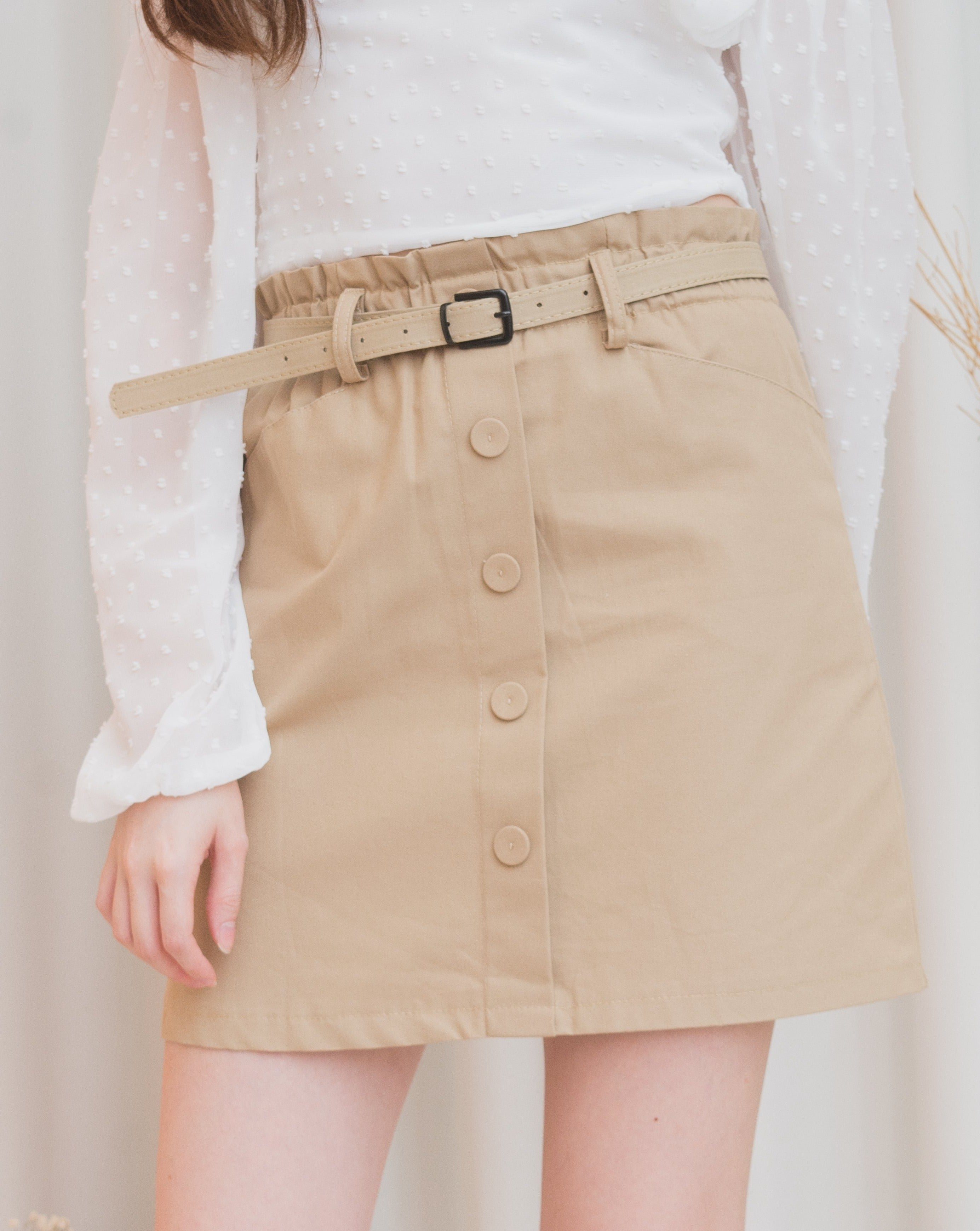 PATRICE Buttoned Skirt