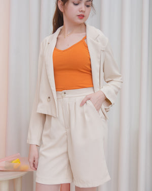 MADISON Set: Cropped Blazer Suit & Bermuda Shorts