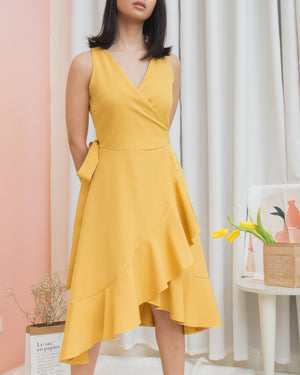 VIANNE Ruffle Wrap Dress