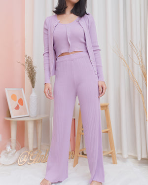FRIDA 3-piece Set: Cardigan, Top & Pants