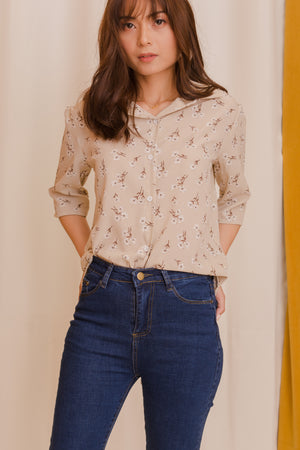 MONROE Buttondown Top