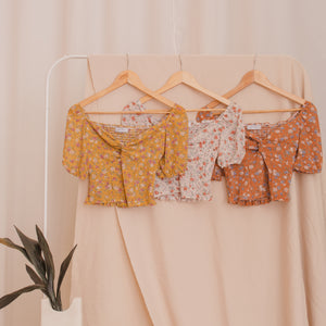 STEPHANIE Floral Puff Sleeve Blouse