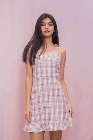 TAYLA Tartan Self Tie Dress