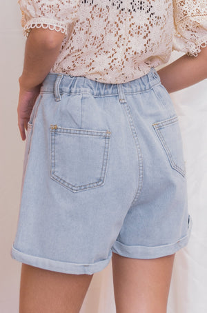 RIO Cuffed Denim Shorts