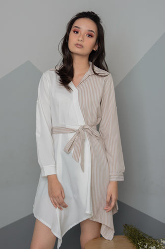 RIVER Asymmetrical Button Down Dress