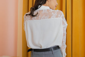 MELLOW Lace Long Sleeve Blouse