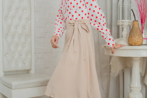 SLOAN Puff Sleeve Dotted Top