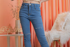 DAHLIA Skinny Ankle Jeans - Medium Wash