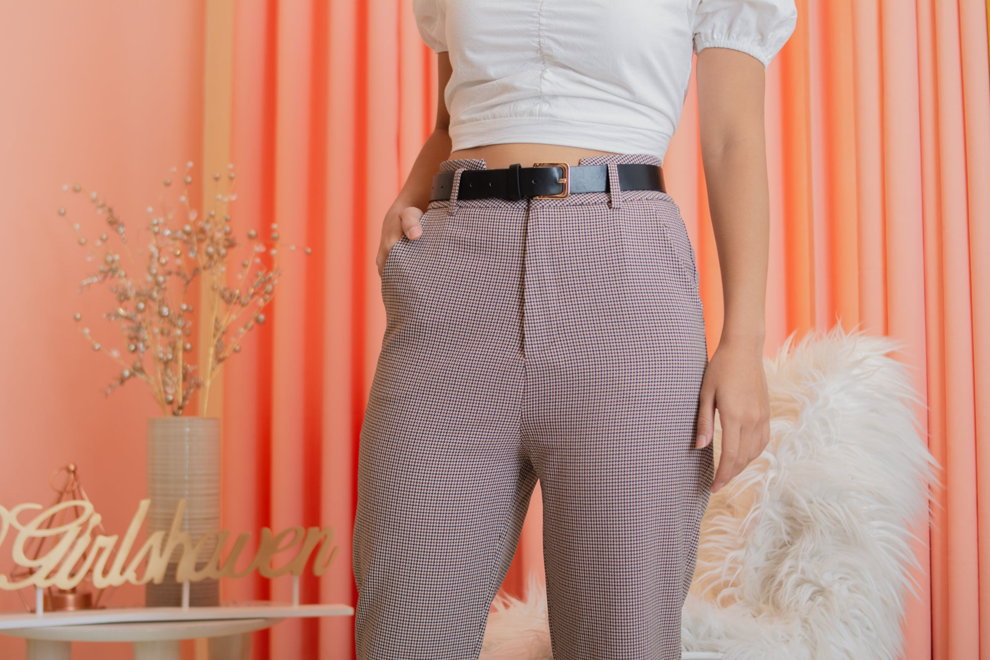 SHARPAY Houndstooth Pants