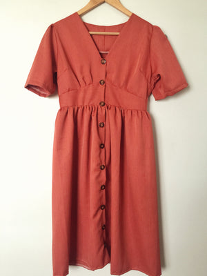 ESME Linen Buttoned Dress