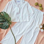 CAPRICE: Buttondown & Pants Set
