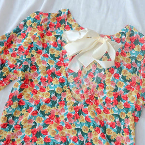 GEORGIA Floral Low Back Blouse