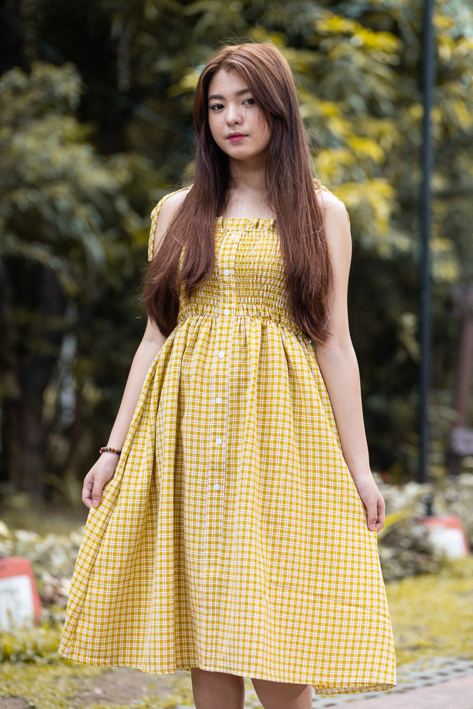 ZOEY Plaid Midi Dress