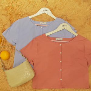 CANDY Buttoned Top