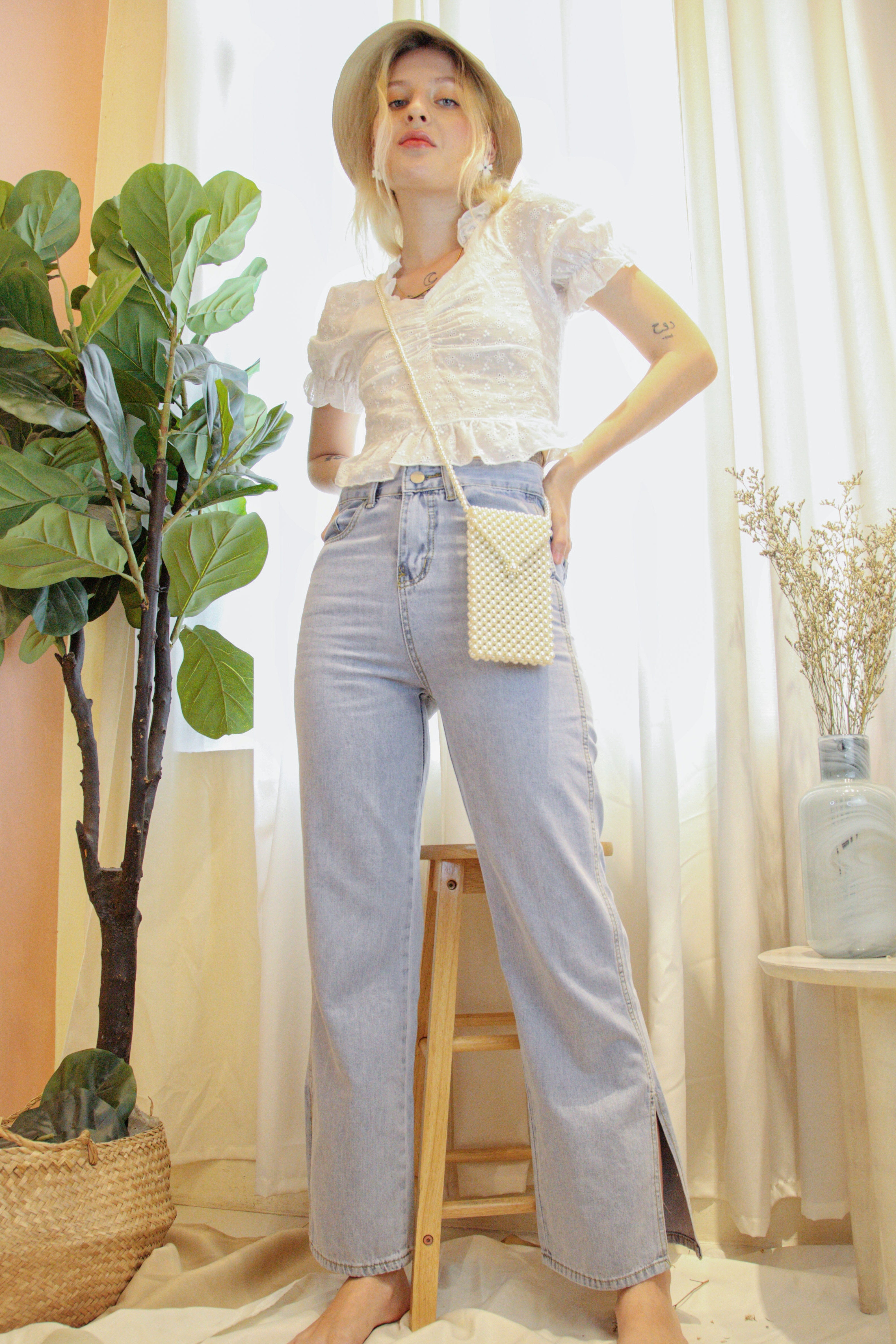 LIAM Denim Pants - Semi Light Wash