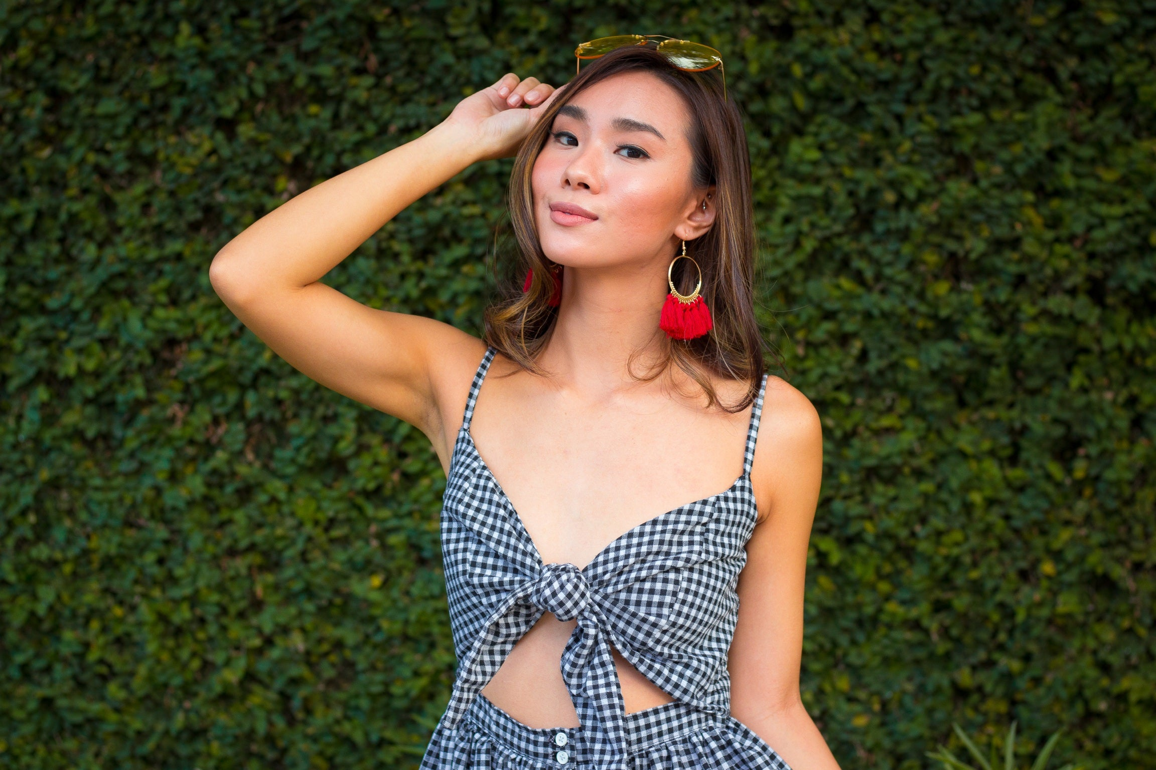 TIE ME UP Gingham Dress
