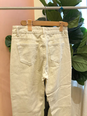 FELICITY Denim Pants - Cream