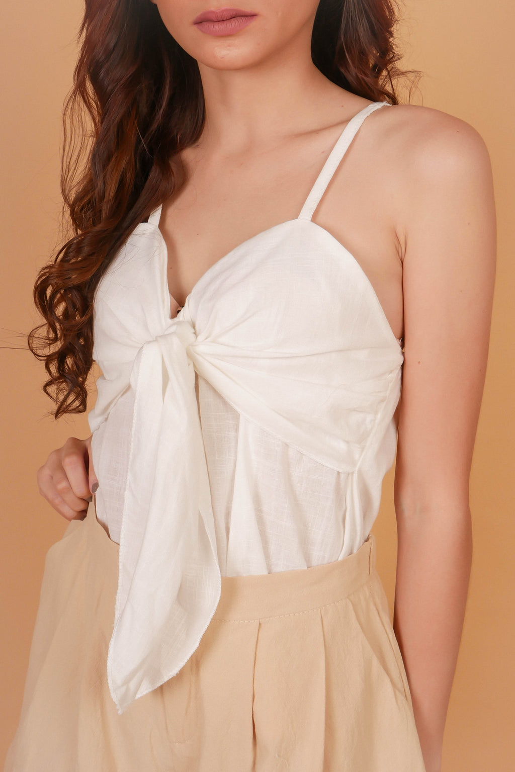 CHEYENNE Knotted Front Cami Top