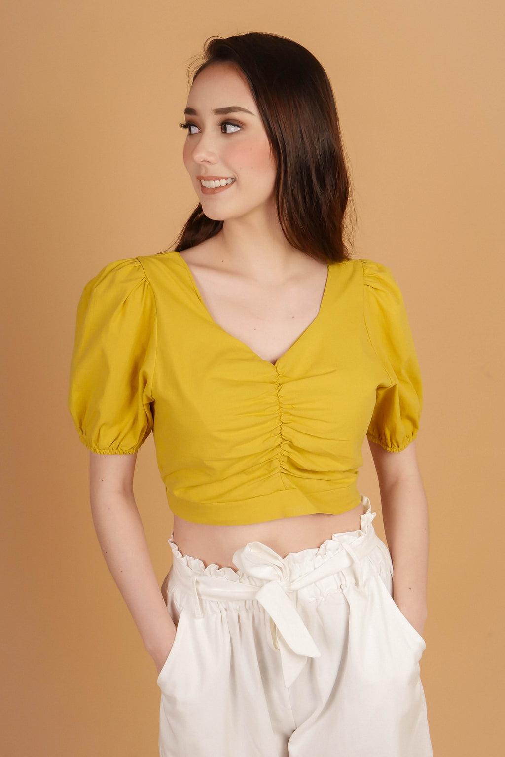 YORK Ruched Front Top