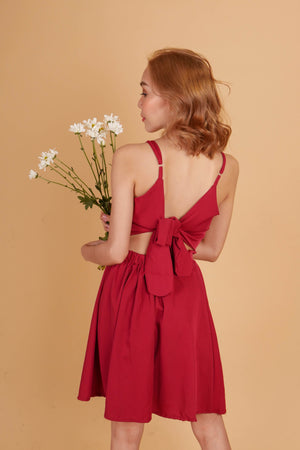 VIENNA Ribbon Back Dress