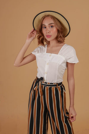 HANOI Striped Culottes