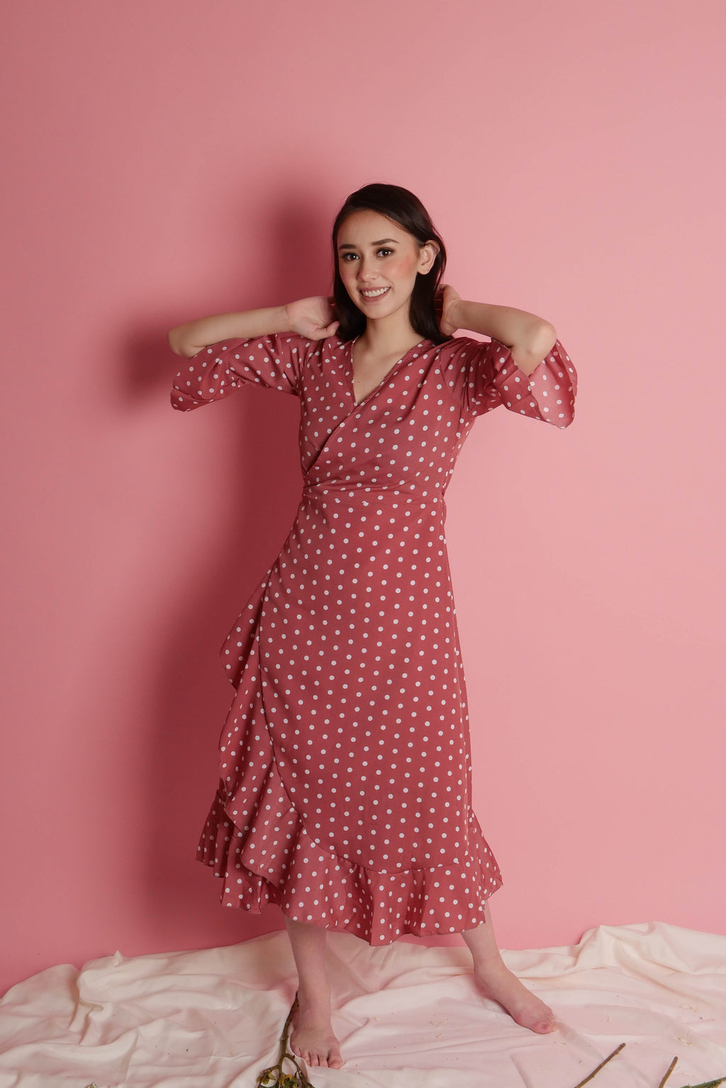 HATICE Dotted Ruffle Dress