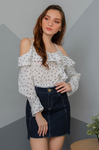 CHIARA Polka Dot Ruffle Top