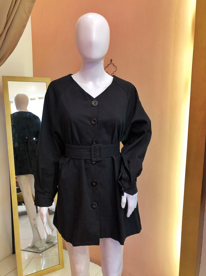 KLARA Buttondown Belted Dress