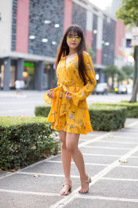 PHYLLIS Floral Ruffle Dress
