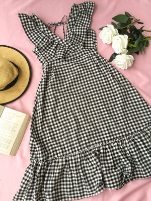LOTTE Gingham Ruffle Dress