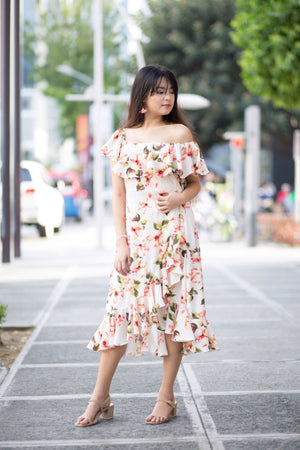KATE Floral Ruffle Dress