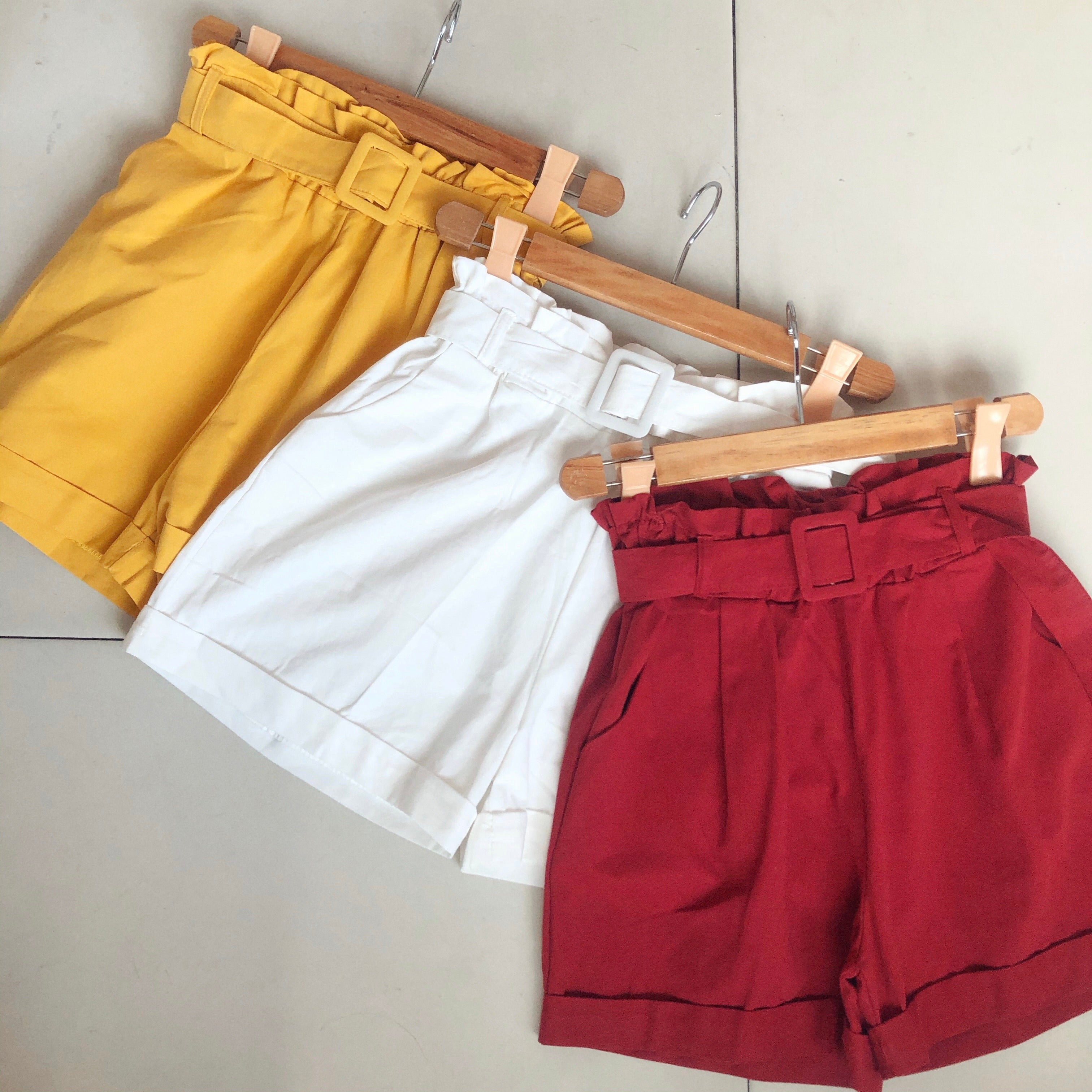CALIN Belted Shorts