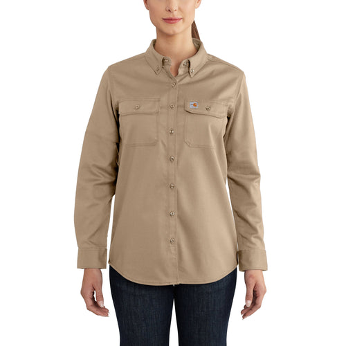 102459 - WOMEN'S FLAME-RESISTANT RUGGED FLEX® TWILL SHIRT