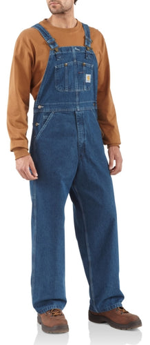 WASHED DENIM BIB OVERALL/UNLINED