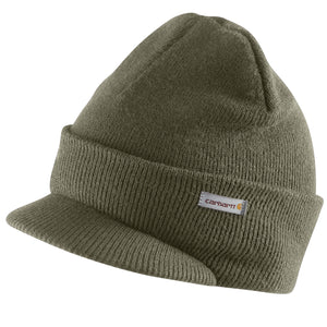 A164 - KNIT HAT WITH VISOR