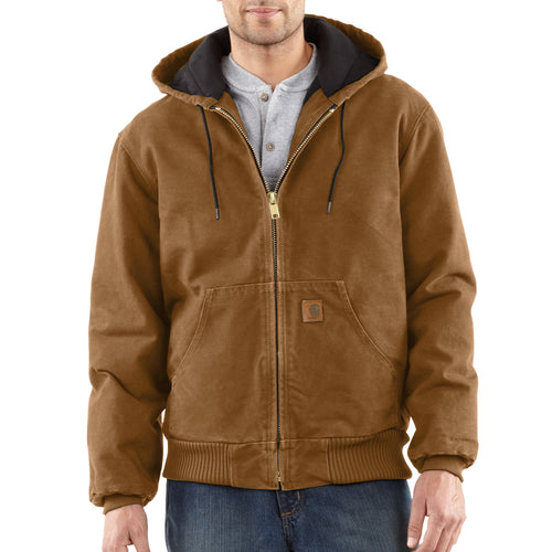 J130 - SANDSTONE ACTIVE JAC/QUILTED FLANNEL LINED