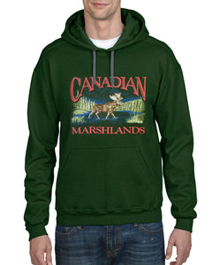 P601H FGN - RETRO CANADIAN HOODIE, MOOSE