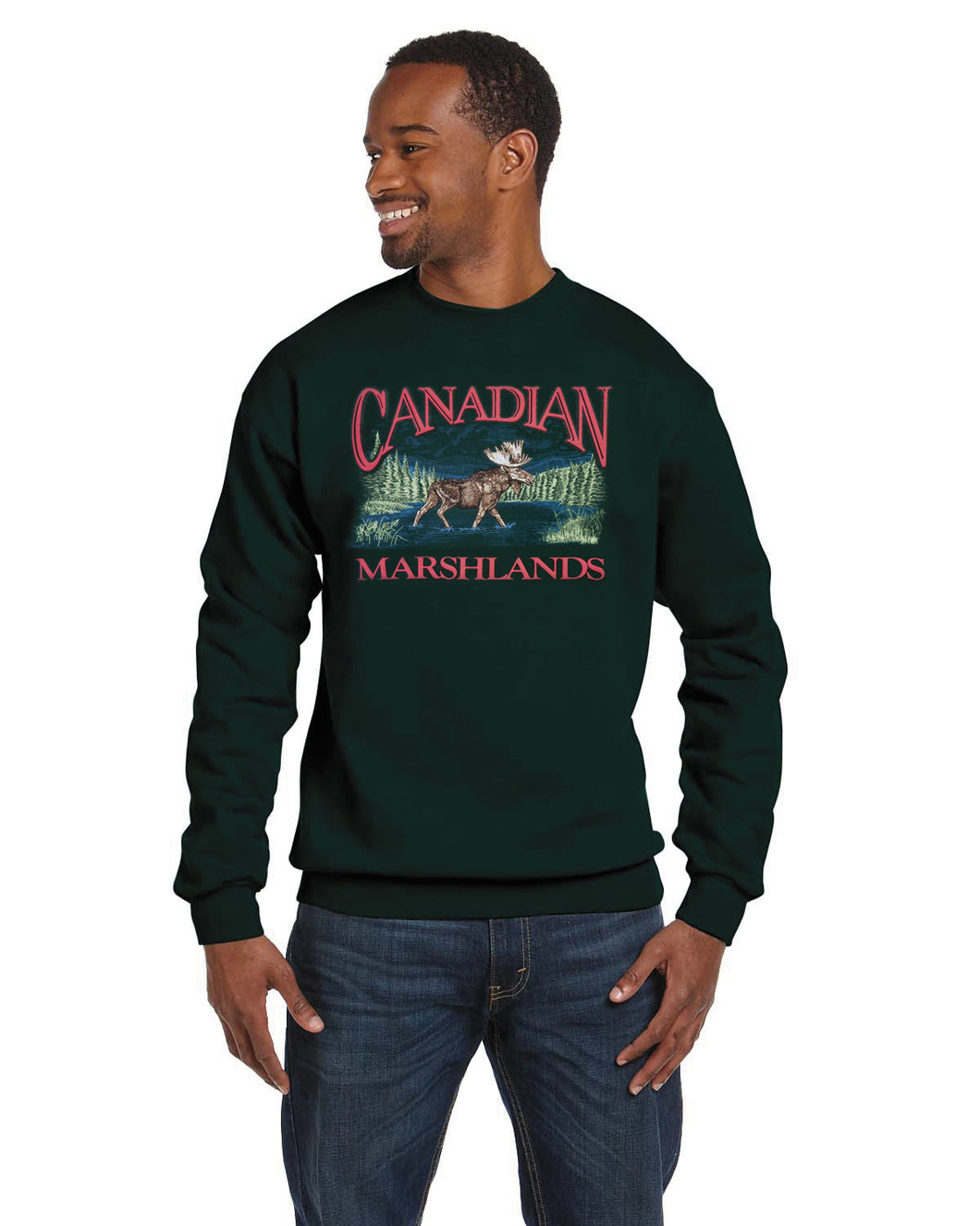 P601C FGN - RETRO CANADIAN CREWNECK, MOOSE