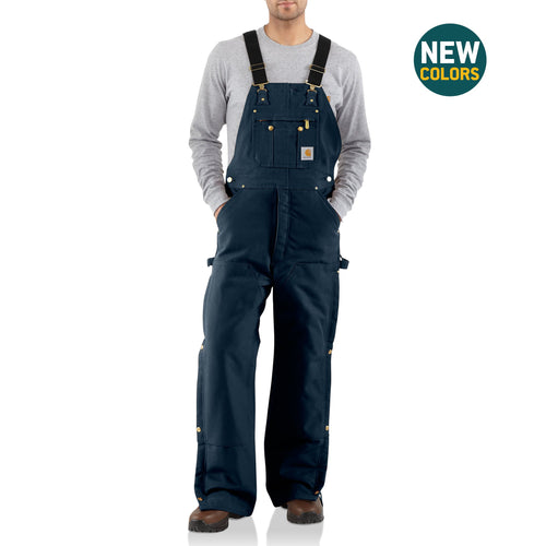 R41 DNY - QUILT LINED ZIP-TO-THIGH BIB OVERALLS