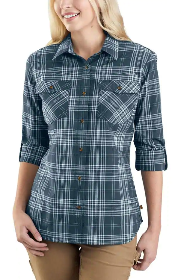 104230 - RUGGED FLEX® SLIGHTLY FITTED LONG-SLEEVE PLAID SHIRT