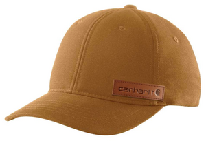 104298 - RUGGED FLEX® CANVAS FULL-BACK FITTED LOGO GRAPHIC CAP