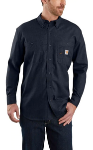 104138 - FLAME-RESISTANT CARHARTT FORCE® ORIGINAL FIT LIGHTWEIGHT LONG-SLEEVE BUTTON FRONT SHIRT