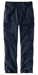 104205 NAVY- FLAME-RESISTANT RUGGED FLEX® RELAXED FIT RIGBY CARGO PANT