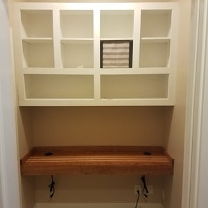 Custom Built-in desk and Storage