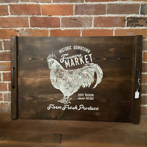 Farmhouse Stove Top Cover - chicken